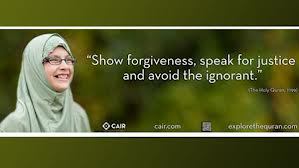 This is another misleading ad by CAIR, this shows a non middl eastern woman, two things you would never see in a muslim country